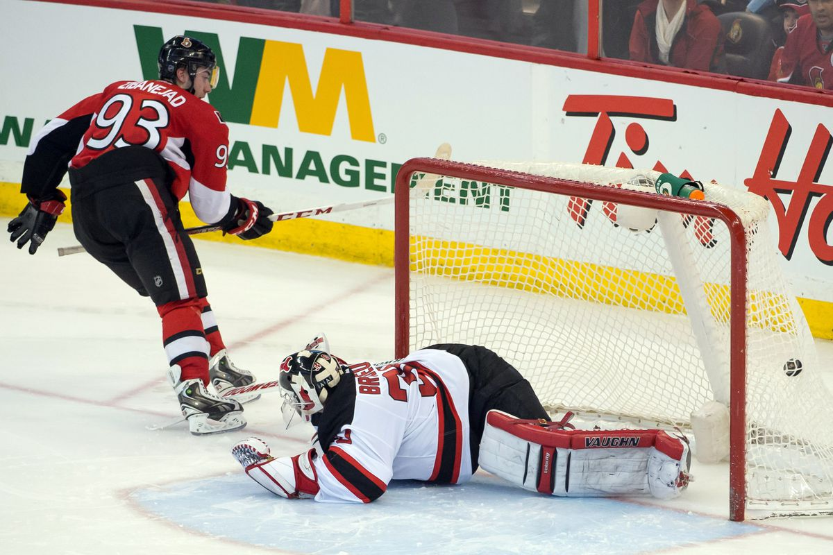 Pictured: One of the many goals allowed in shootout losses the Devils suffered on the road in 2013.