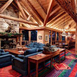 Interior of Jon Huntsman Sr.'s Park City house that has been listed for $55 million.