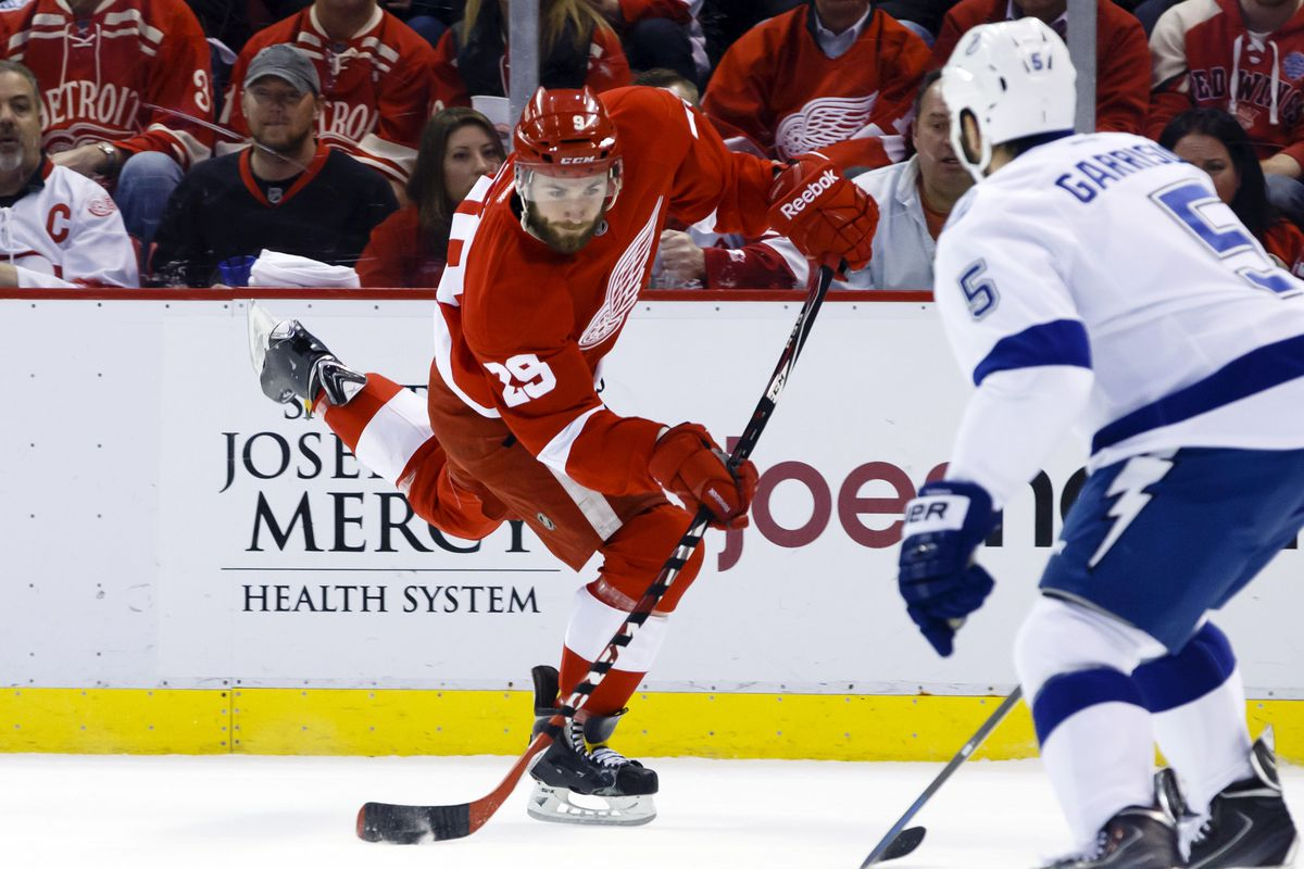 Picture that player in a Spoked-B. Landon Ferraro, former Red Wing.