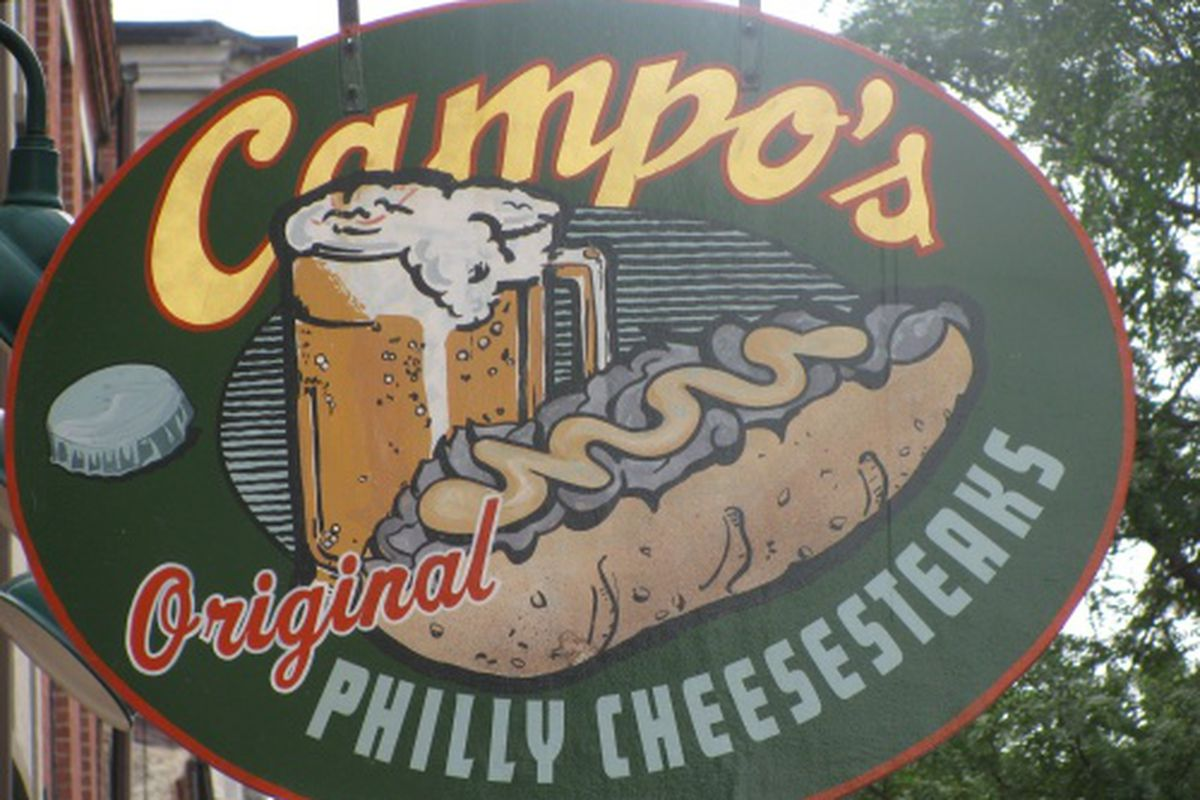 Campo's thinks their cheesesteak is best.