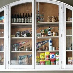 Collectibles from Argentina in the curio cabinet