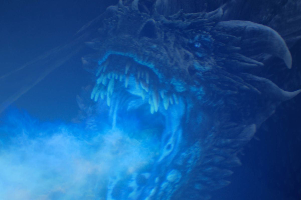 The ice dragon letting loose on Game of Thrones.