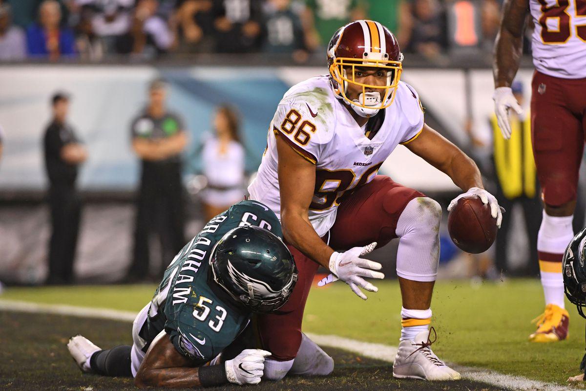 LOOK: Jordan Reed returns to Redskins practice after