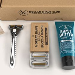 """Dollar Shave Club gift card, <a href=""""https://www.dollarshaveclub.com/gift/purchase"""">$25 to $300</a> (other amounts available)"""