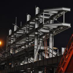 Left field jumbotron structure -