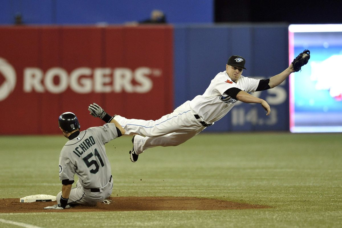 Ever since Ichiro's one take-out slide, infielders have acted skittish