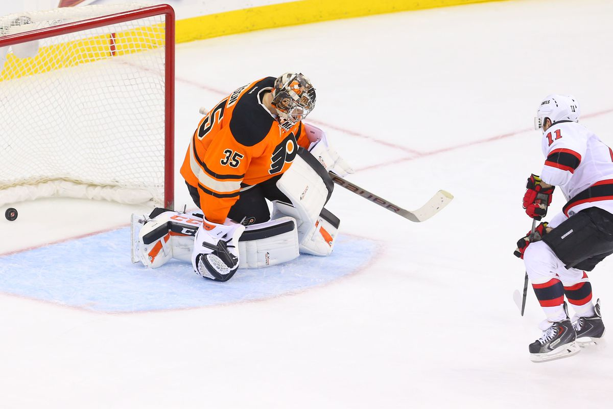 What we'd like to see: Pucks going in behind Steve Mason.  Even if they're by Stephen Gionta.