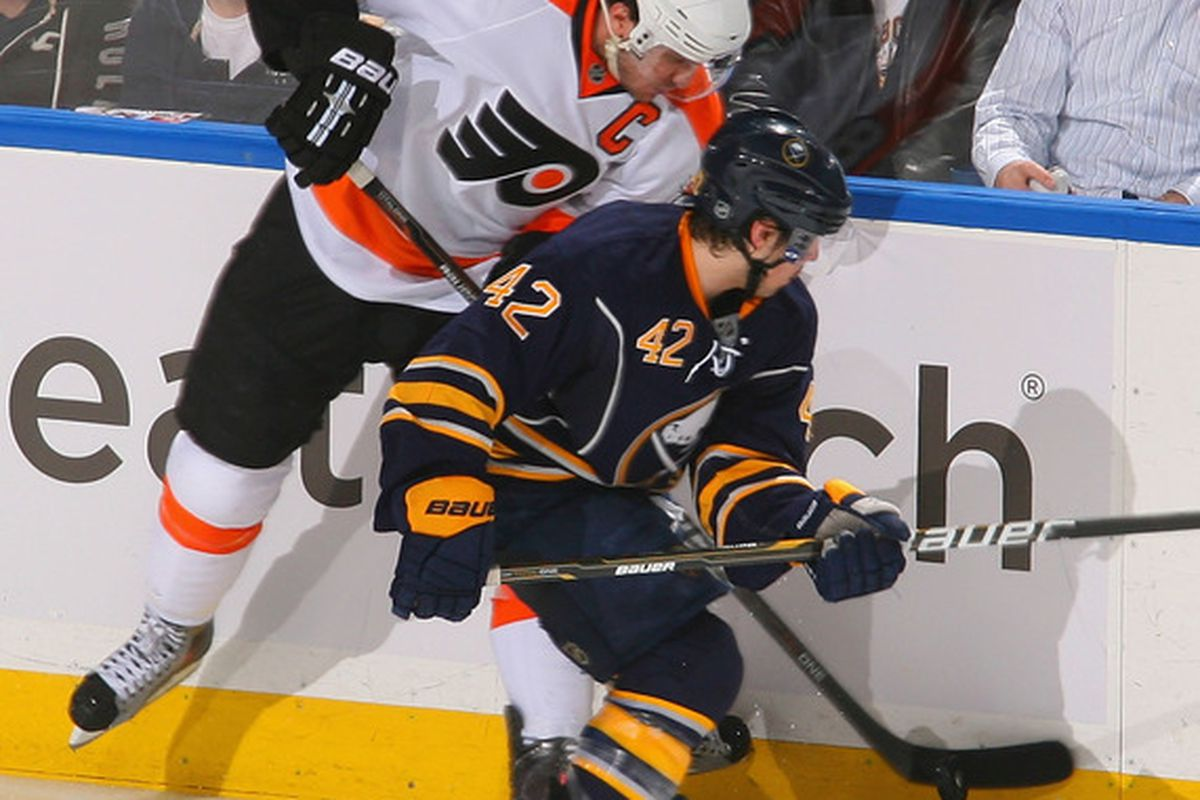 If only everyone on the Sabres could play as hard as Nathan Gerbe.
