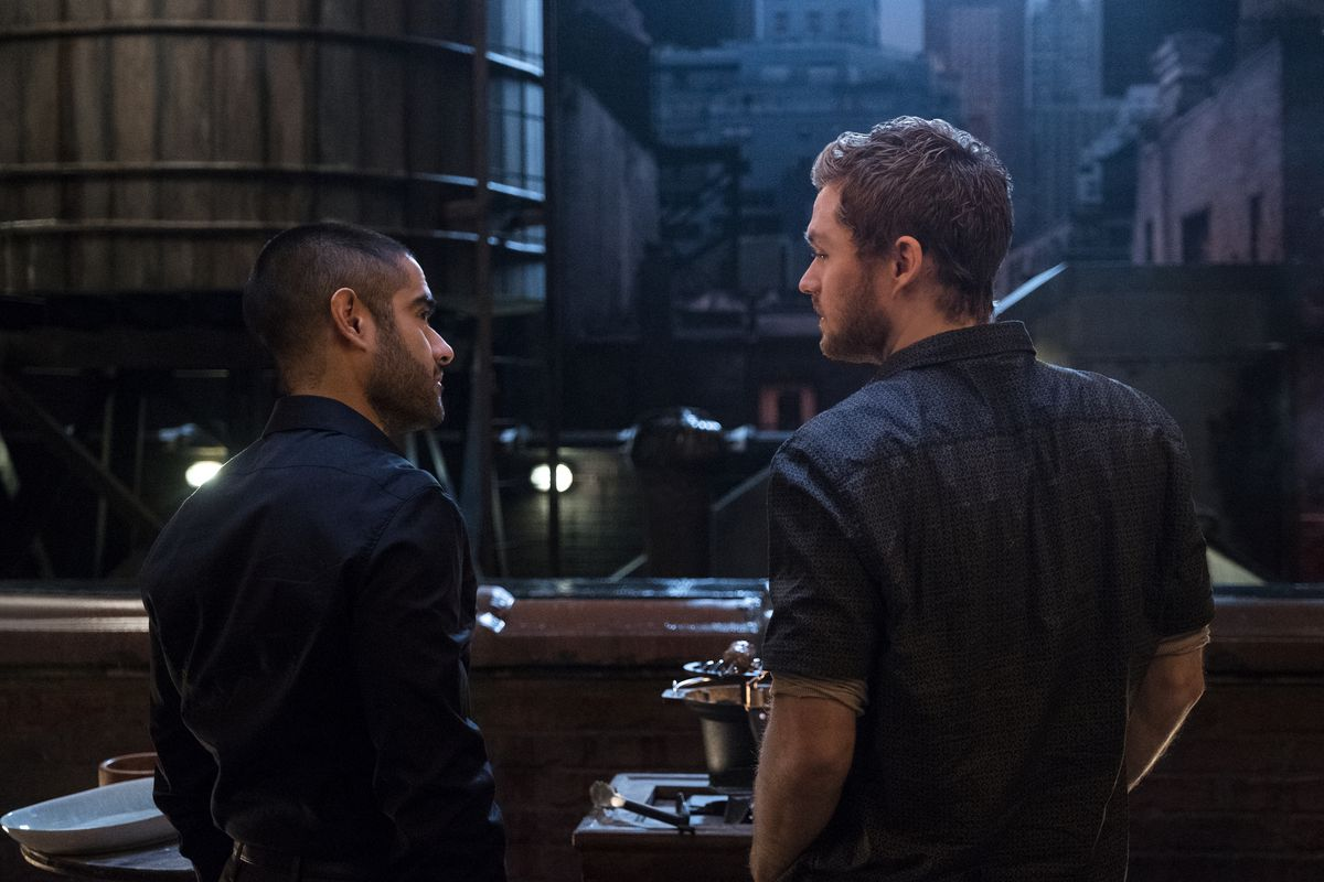 Danny and Davos in Iron Fist's second season.