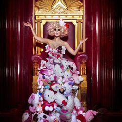 Hello Kitty x Lady Gaga plush dress, 2009; Photo: Markus + Indrani, styled by GK Reid