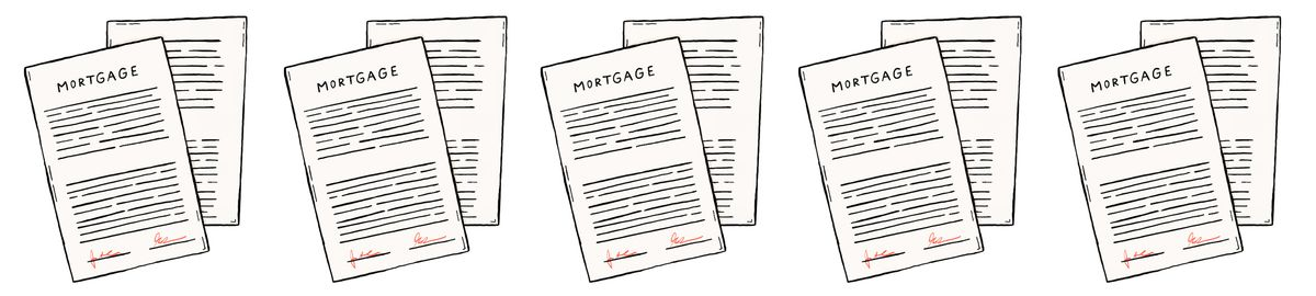 Illustration of mortgage papers