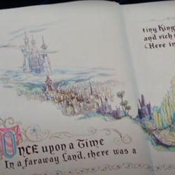 The picture book from the opening of Disney's Cinderella (1950)