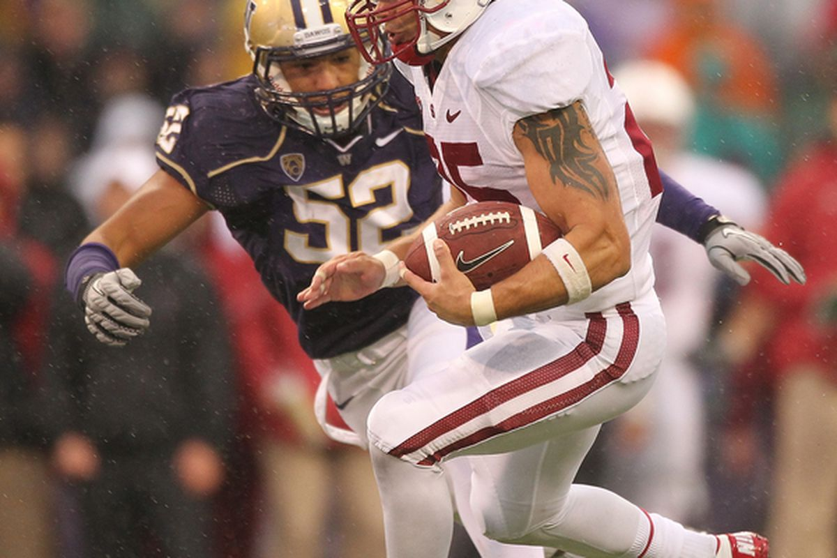 The return of a healthy Hau'oli Jamora will be a big plus for the Washington defense in 2012. (Photo by Otto Greule Jr/Getty Images)