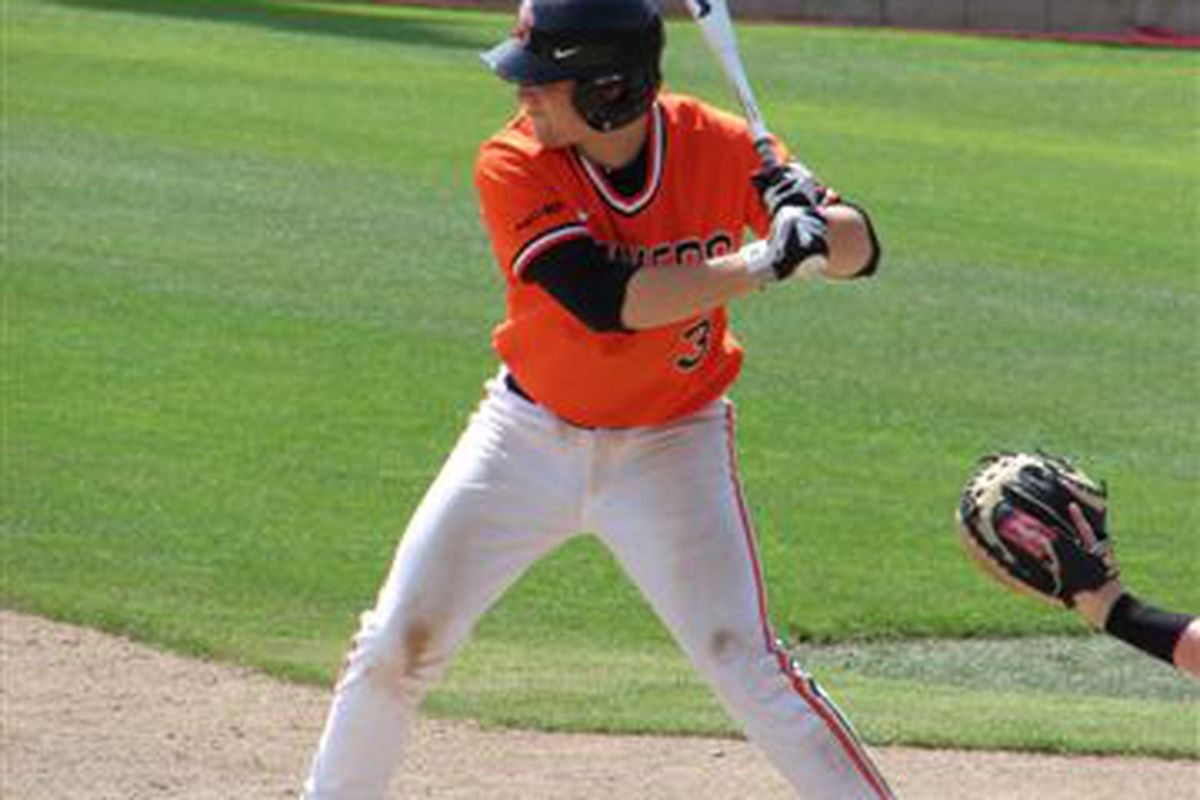 Oregon St.'s Kavin Keyes was named the Pac-10 Player of the Week for his hitting against Stanford.  <em>(Photo by So. Oregon Beaver Fan)</em>