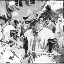 Costumed marchers at a celebration at Our Lady of Pompeii Church. | Sun-Times Archives