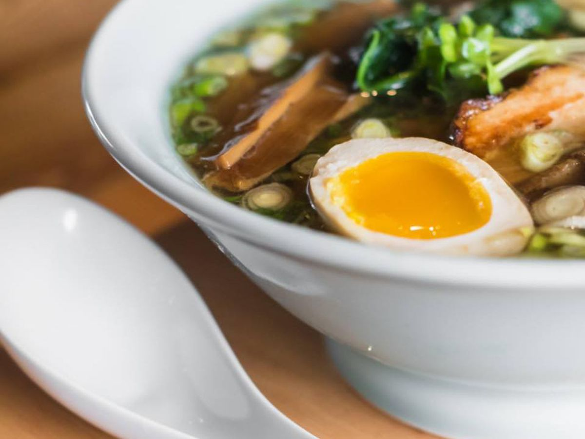 Bowl of tonkatsu ramen