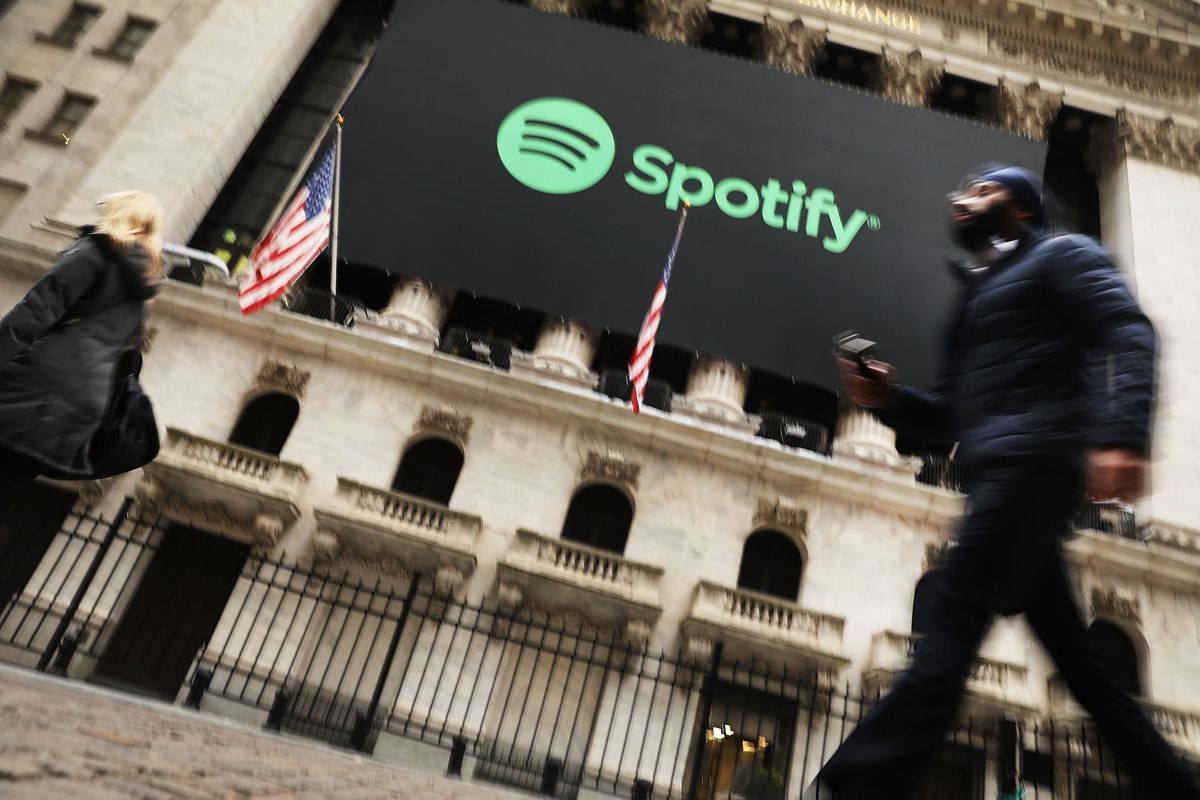 Music Streaming Service Spotify Goes Public On The New York Stock Exchange