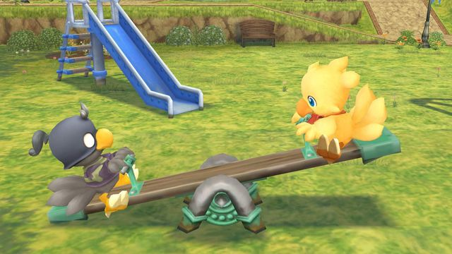 Look how cute those chocobos are!