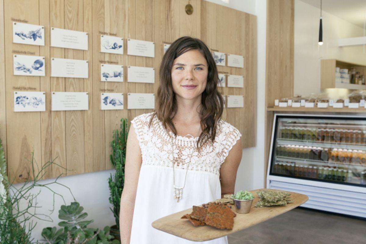 "Amanda Chantal Bacon. Image <a href=""http://howyouglow.com/amanda-chantal-bacon-at-moon-juice/"">via</a>."