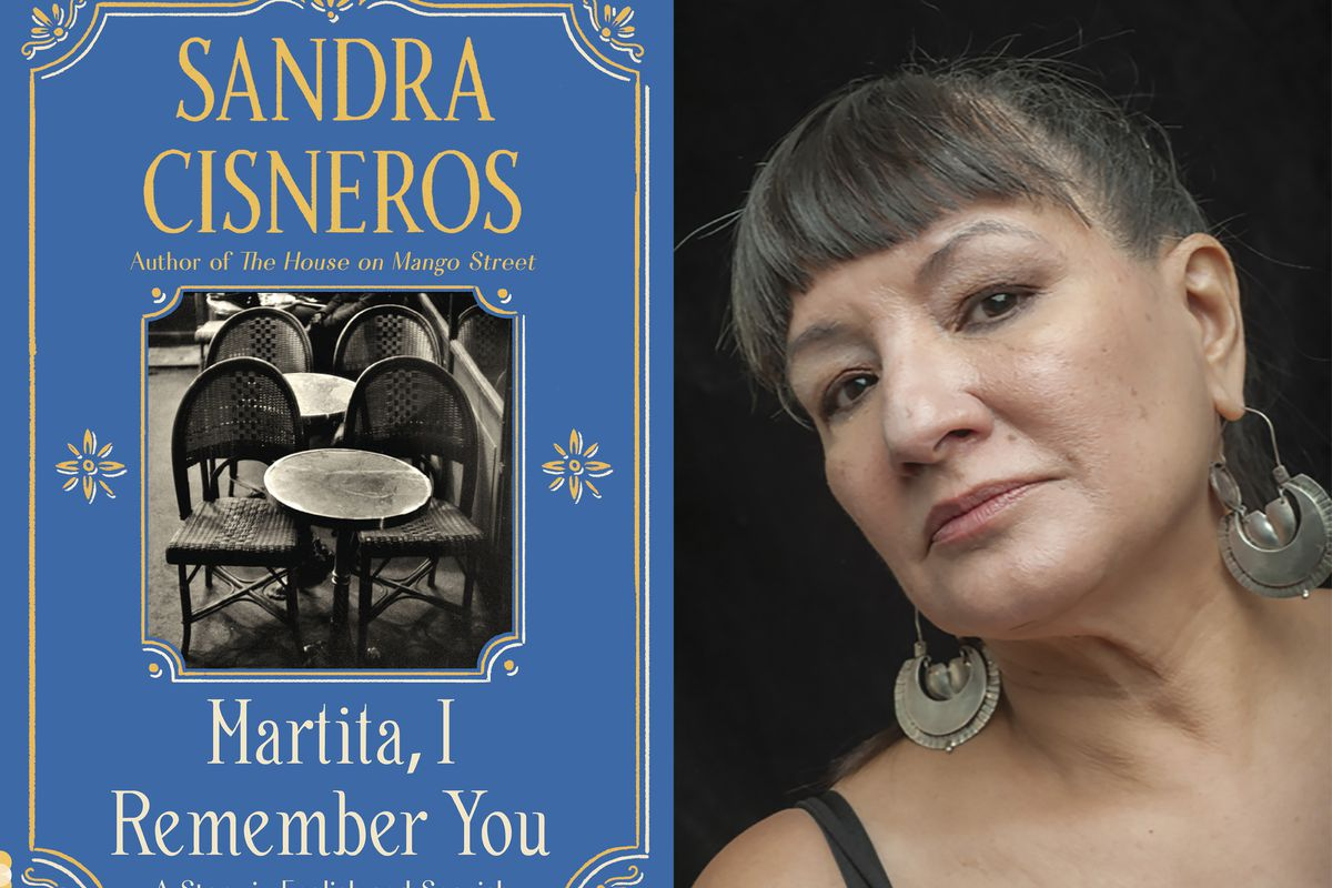 """This combination of images released by Vintage Books shows cover art for """"Martita, I Remember You,"""" and a portrait of author Sandra Cisneros."""