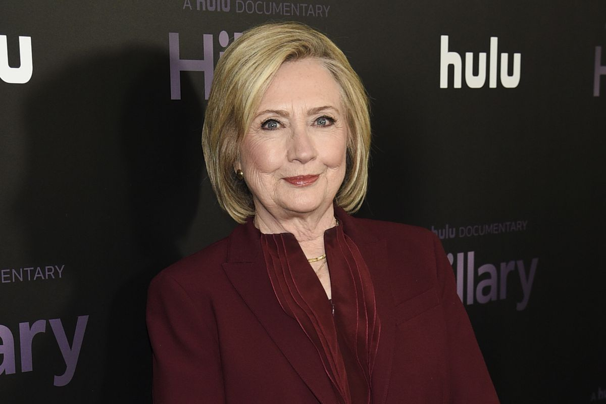 """Former secretary of state Hillary Clinton attends the premiere of the Hulu documentary """"Hillary"""" in New York in 2020."""