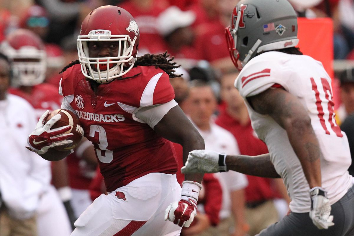 Alex Collins had some fun on Saturday afternoon.