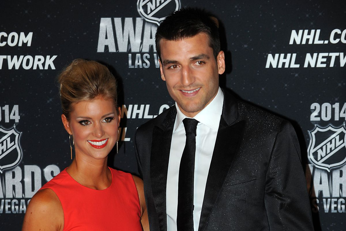 Perennial NHL Awards nominee Patrice Bergeron and his wife, Stephanie