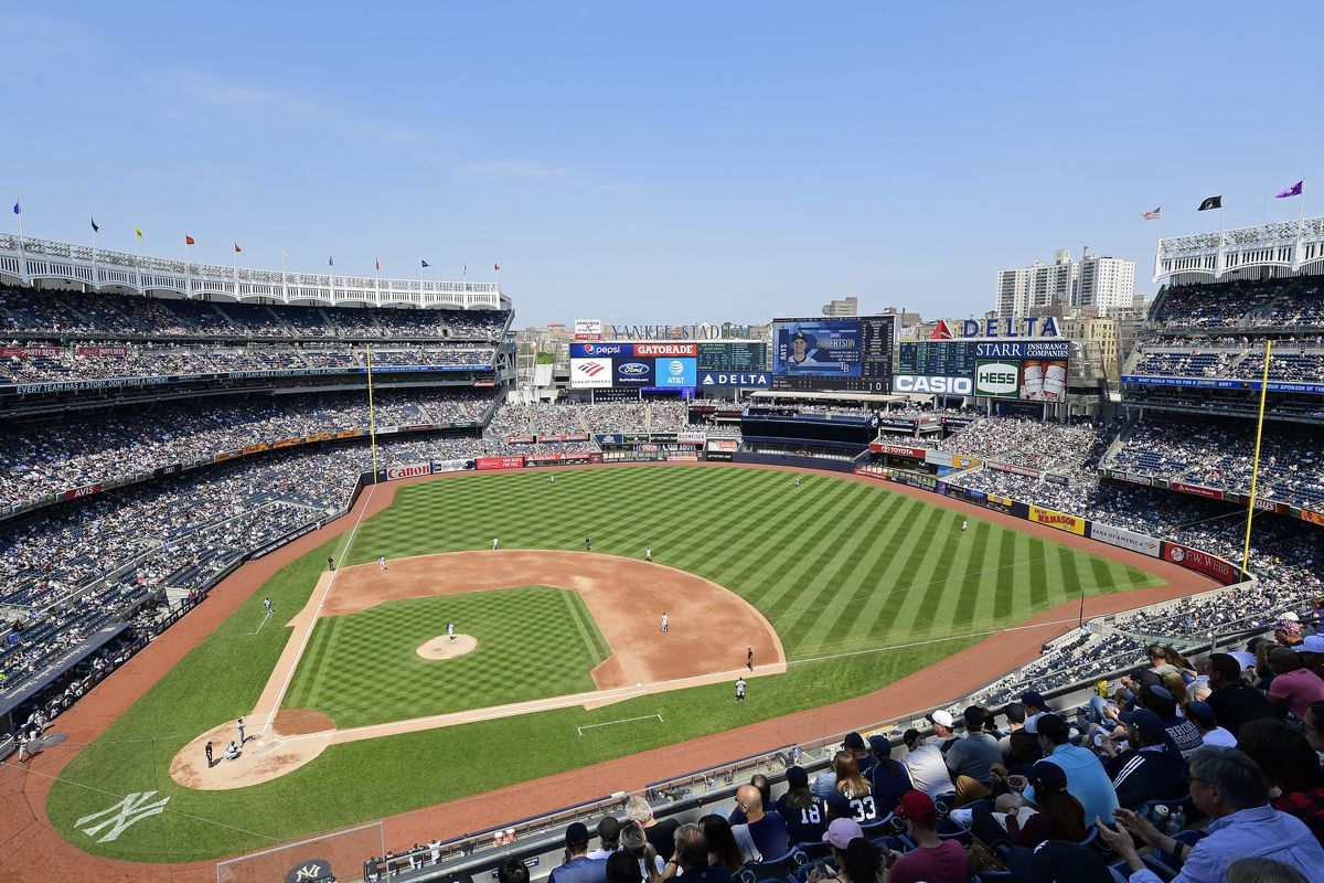 A general view during the game between the New York Yankees and the Tampa Bay Rays at Yankee Stadium on May 19, 2019 in New York City.