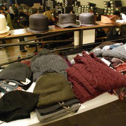 More men's hats, some sweaters and winter accessories