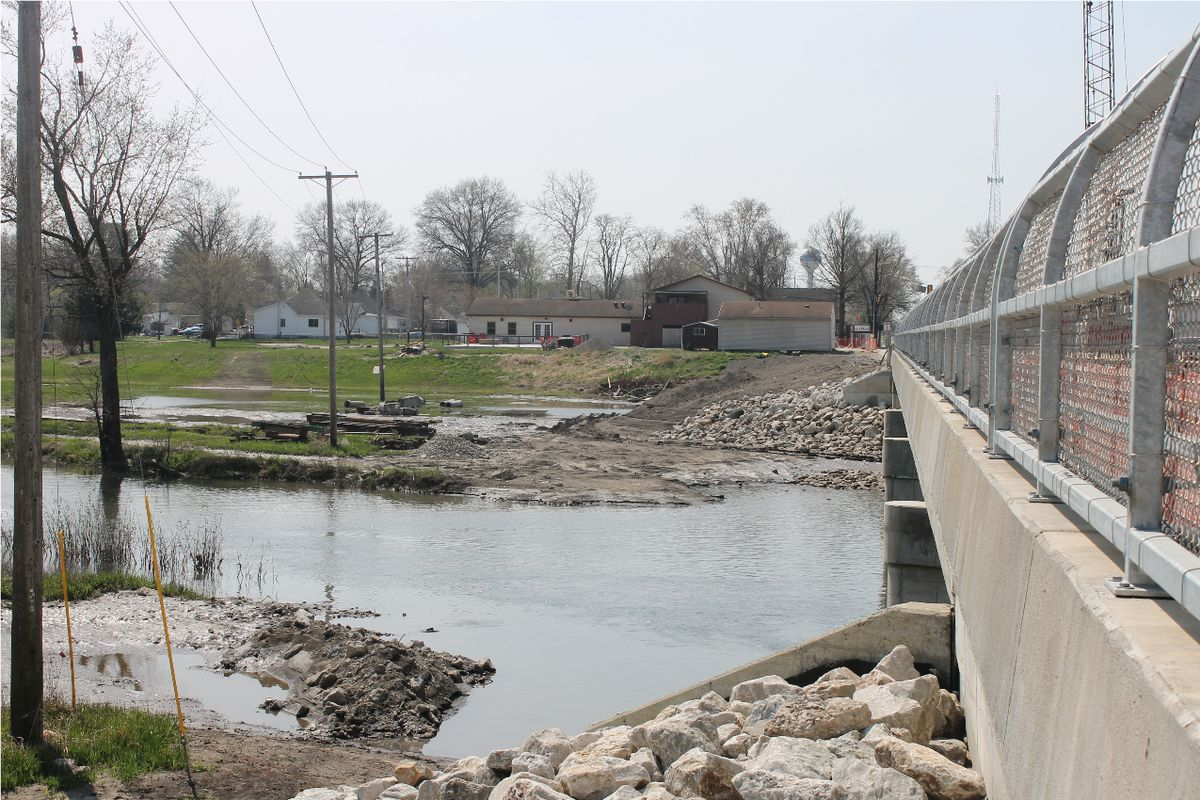 The Embarras bar sits on the banks of the Embarras River in Villa Grove, Ill.