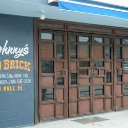 Johnny's Gold Brick hand-painted signage.
