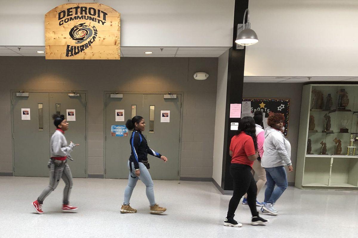 Students at Detroit Community Schools High School.