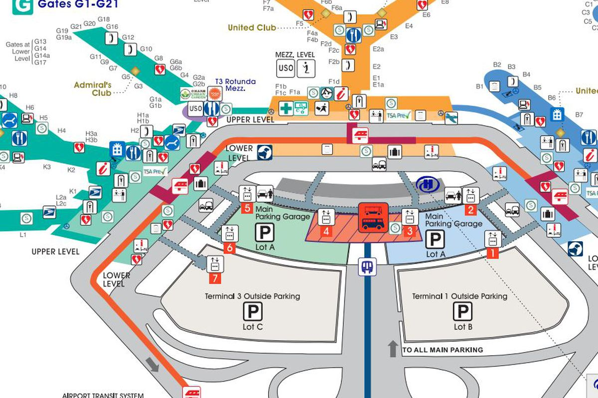 Ohare Airport Map Where to Eat at O'Hare International Airport (ORD)   Eater Chicago Ohare Airport Map