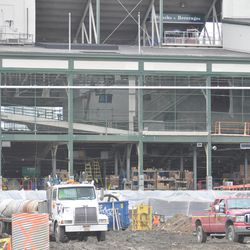 The west side of the ballpark -