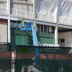 Painting above the new Wintrust Gate signage