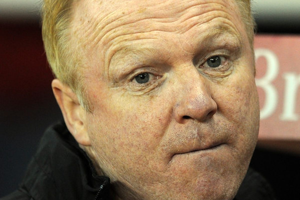 I have no photo of Jean-Alain Boumsong, so enjoy the feeling of Alex McLeish's eyes staring into your soul.