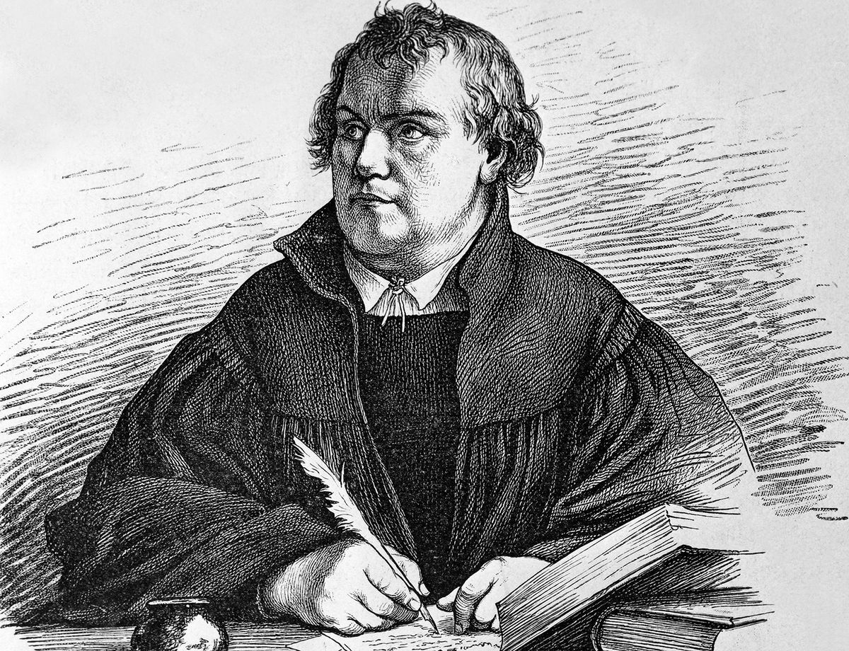 An illustration of Martin Luther. A printing of his works was crowdfunded. (Ulstein Bild/Getty Images)