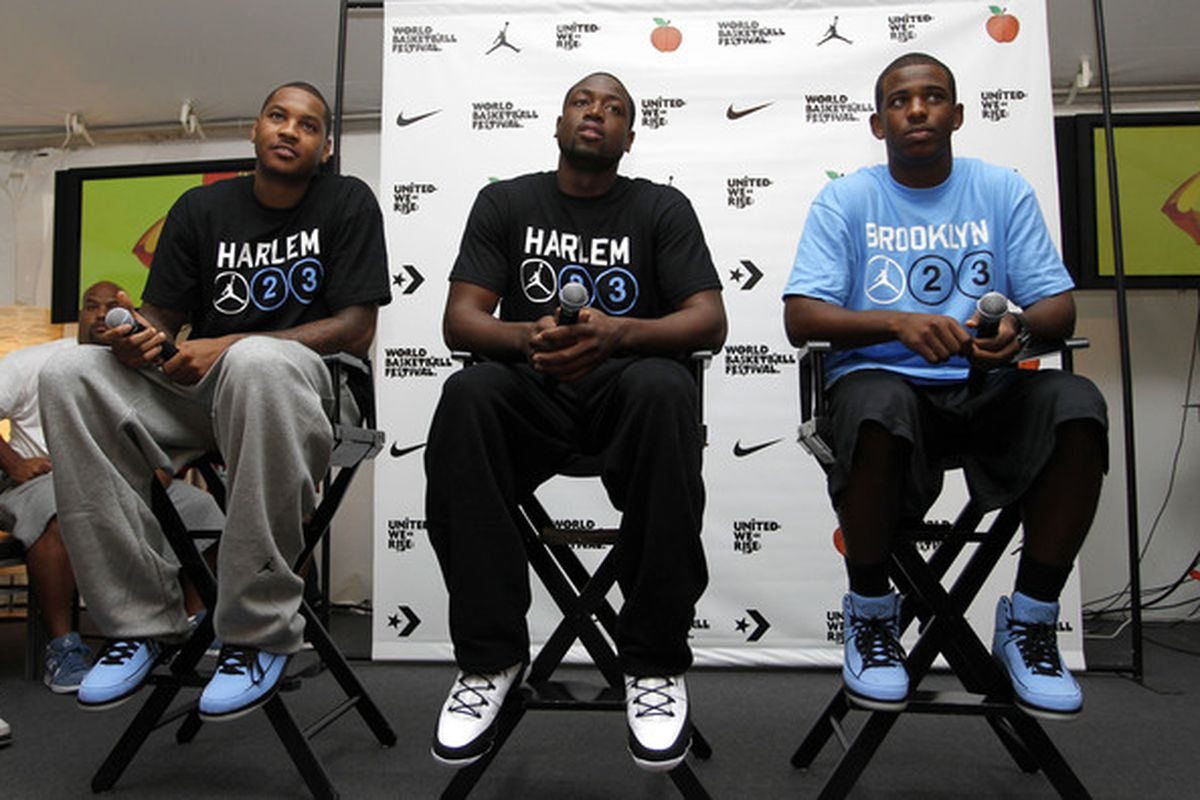 Melo and Paul wish they could be like their boy D-Wade: handpick their city and teammates.