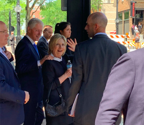 Former President Bill Clinton and Secretary of State Hillary Clinton Saturday in Arlington Heights.