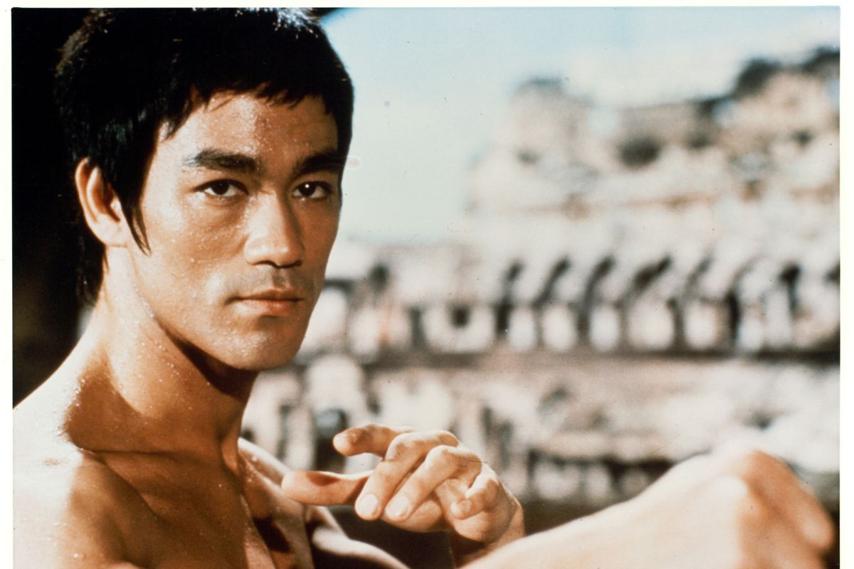Publicity portrait of Bruce Lee from the film 'The Way of the Dragon,' 1972.