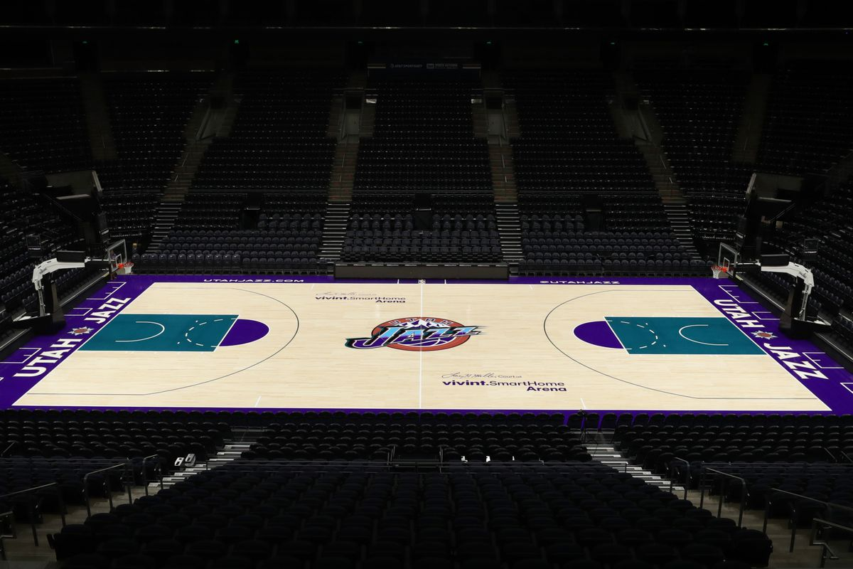 low priced 163f9 73a58 Utah Jazz unveil purple 'mountain' throwback jersey, court ...