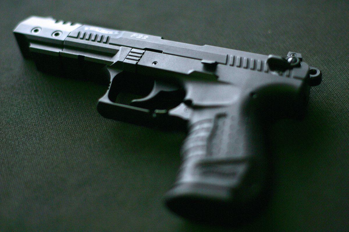 A gun.
