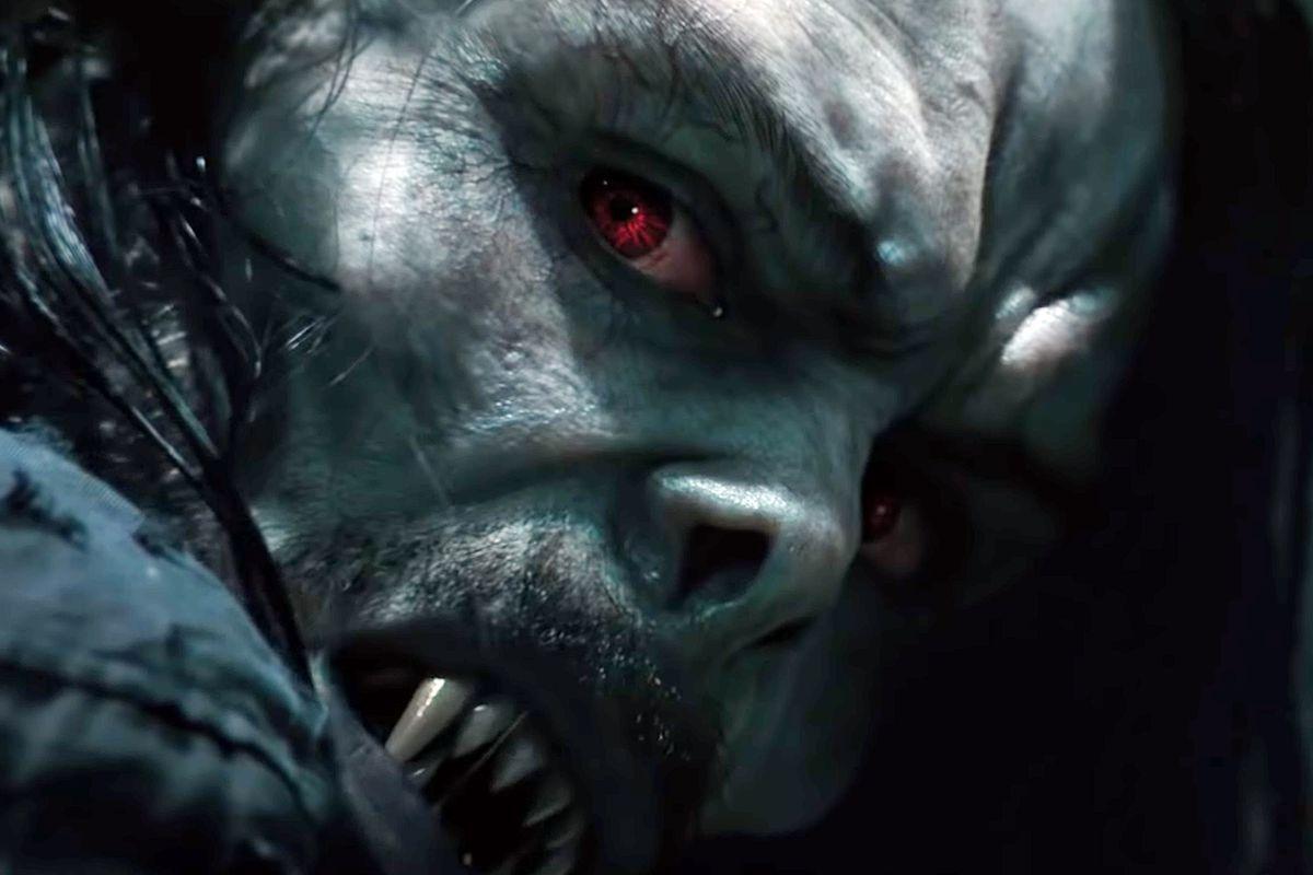 Morbius the growling vampire from the movie Morbius