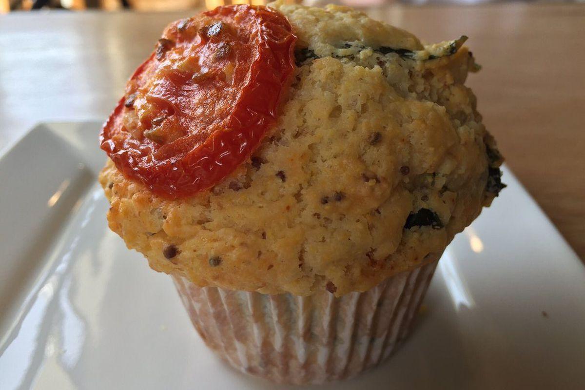 Beach Bakery's cheddar basil muffin.