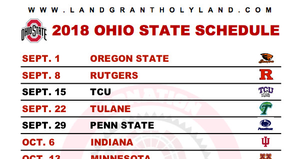 Print your own 2018 Ohio State football graphical schedule ...