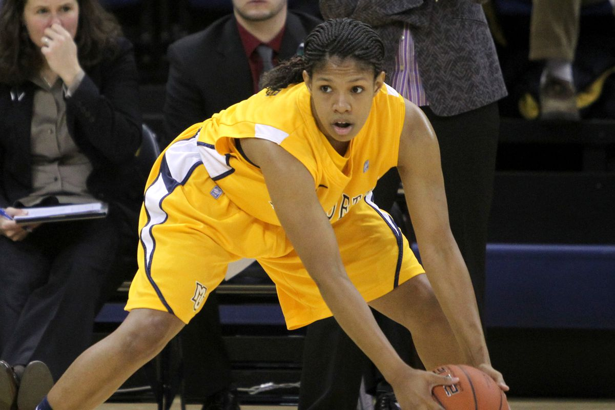 Arlesia Morse picks up all-Big East Second Team honors in her final season at Marquette.