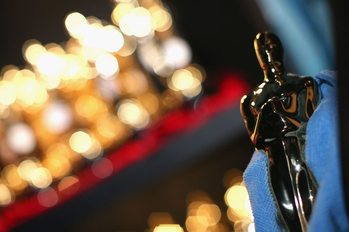 HOLLYWOOD, CA - MARCH 02:  Oscar statuette on display backstage during the Oscars held at Dolby Theatre on March 2, 2014 in Hollywood, California.  (Photo by Christopher Polk/Getty Images)