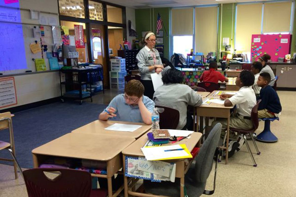 Megan Smith teaches math at Arlington Woods School 99, which is a Project Restore school.