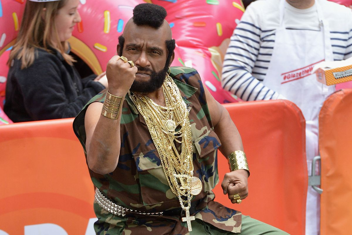 This isn't actually Mr. T, it's Al Roker dressed as Mr. T.