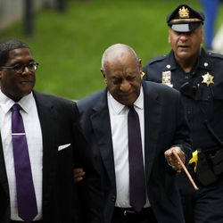 Bill Cosby reacts to a comment from the crowd as he arrives for his sexual assault trial at the Montgomery County Courthouse, Tuesday, June 6, 2017 in Norristown, Pa.